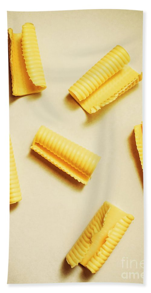 Yellow Hand Towel featuring the photograph Fresh Butter Curls On Table by Jorgo Photography - Wall Art Gallery