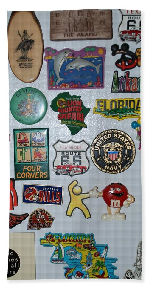 Refrigerator Bath Towel featuring the photograph Fridge Magnets by Rob Hans