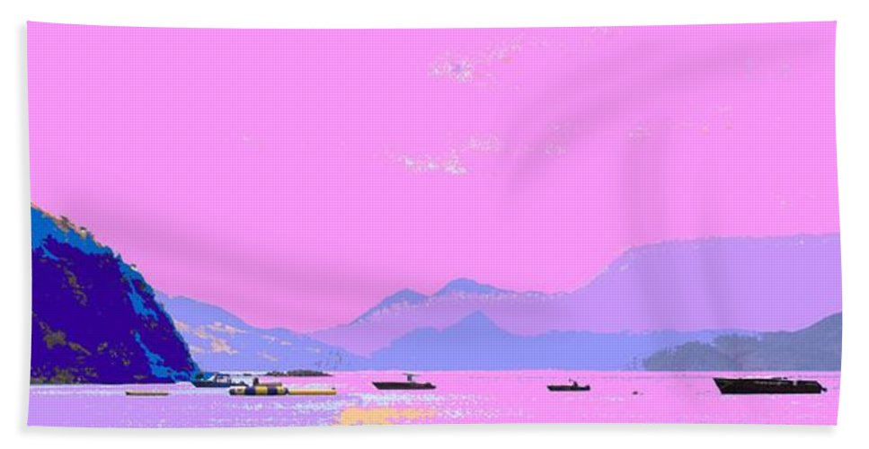 Frigate Hand Towel featuring the photograph Frigate Bay Morning by Ian MacDonald