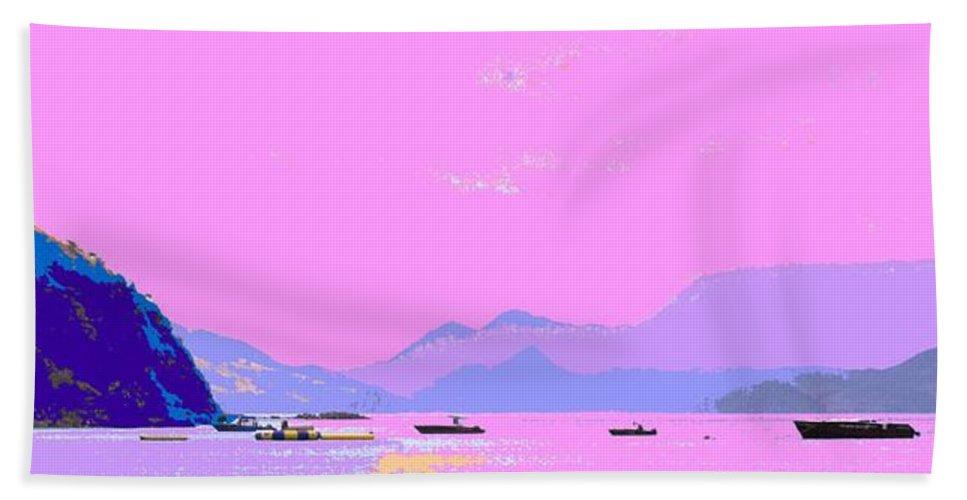 Frigate Bath Sheet featuring the photograph Frigate Bay Morning by Ian MacDonald
