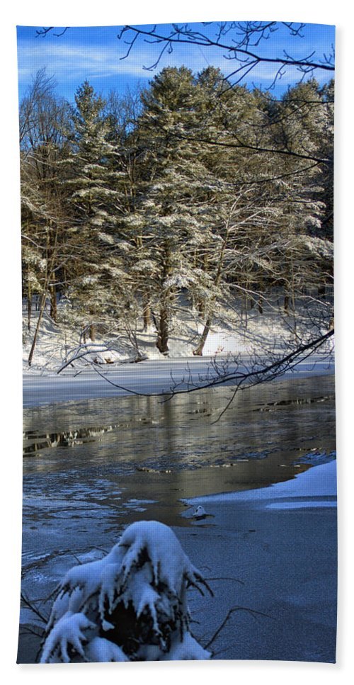 Winter Bath Sheet featuring the photograph Frigid Slumber by Catherine Melvin