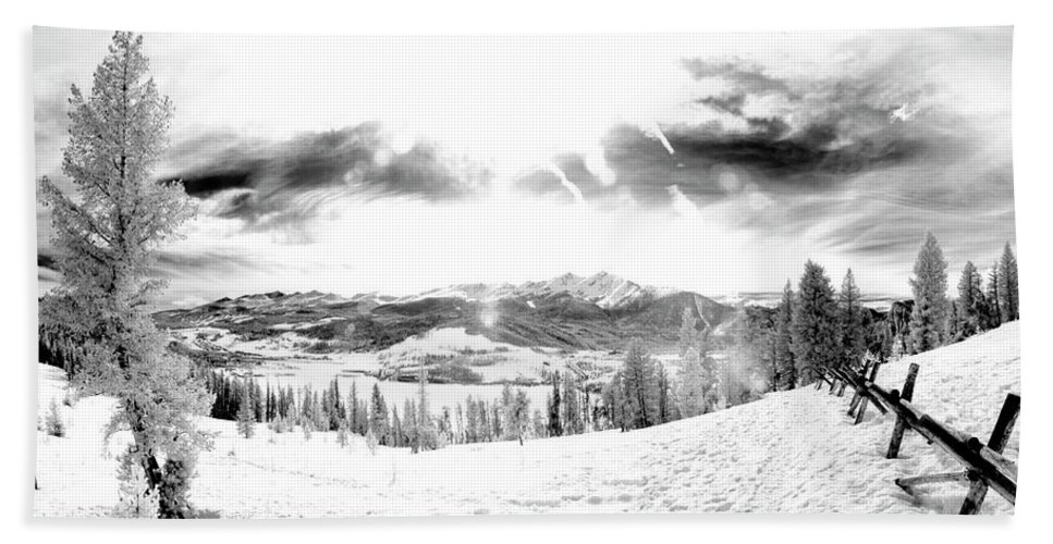 Frisco Colorado Bath Sheet featuring the photograph Frisco In The Snow by Jerrod Hein