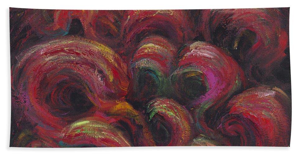 Frivolity Hand Towel featuring the painting Frivolity by Nadine Rippelmeyer