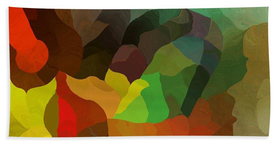 Fine Art Bath Sheet featuring the digital art Frolic In The Woods by David Lane