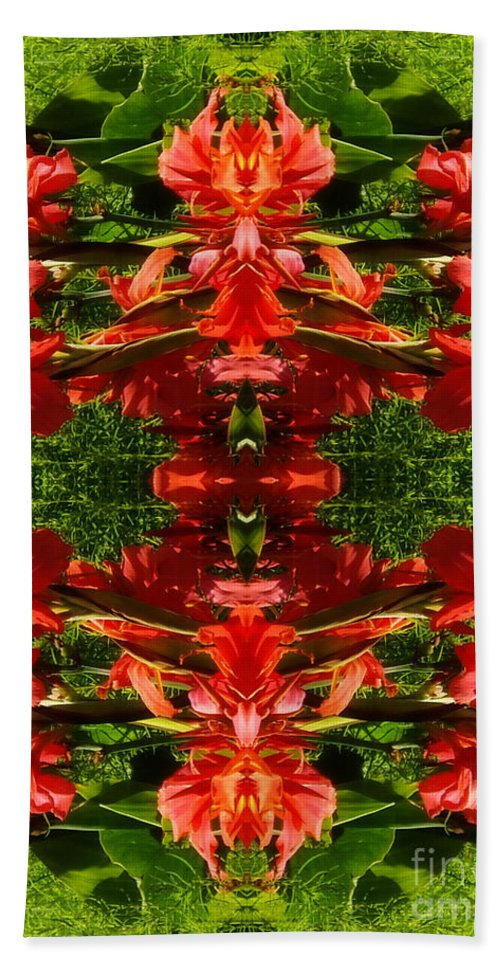 From Outer Space Hand Towel featuring the digital art From Outer Space by Mariola Bitner