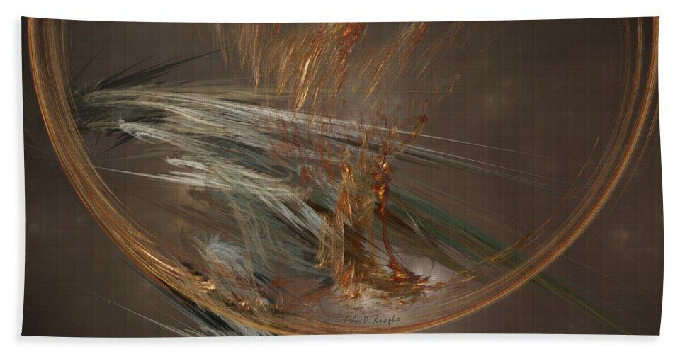 John Knapko Hand Towel featuring the digital art From The Shire To Mordor by John Knapko