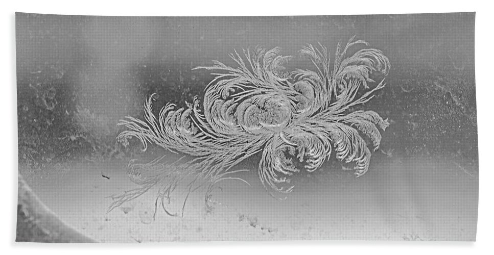 Frost Hand Towel featuring the photograph Frost 3 by Elaine Berger