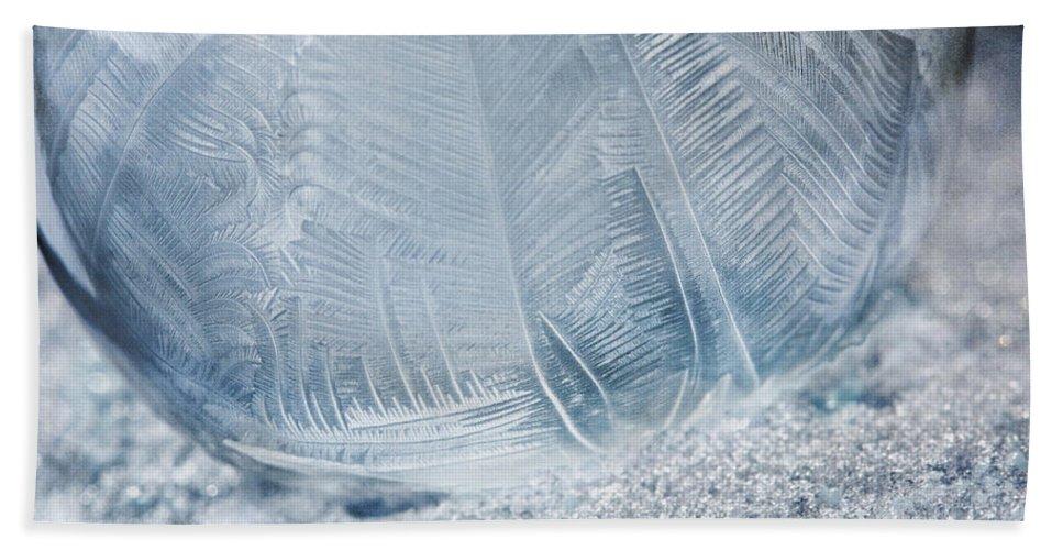 Frozen Bubble Bath Sheet featuring the photograph Frozen Bubble by Dale Kincaid