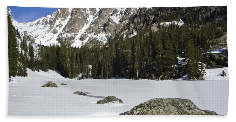 Horizontal Hand Towel featuring the photograph Frozen Colorado by Brian Kamprath