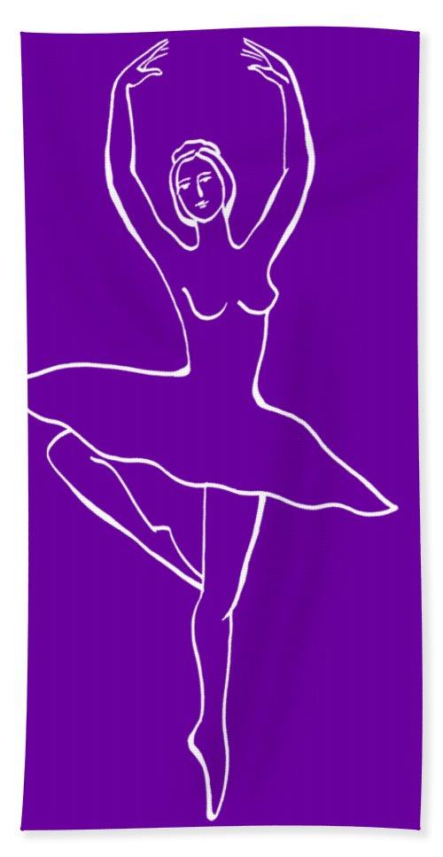 Ballerina Bath Towel featuring the painting Frozen Dance Ballerina by Irina Sztukowski