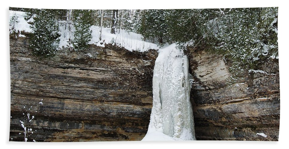 Landscape Hand Towel featuring the photograph Frozen In Time by Michael Peychich