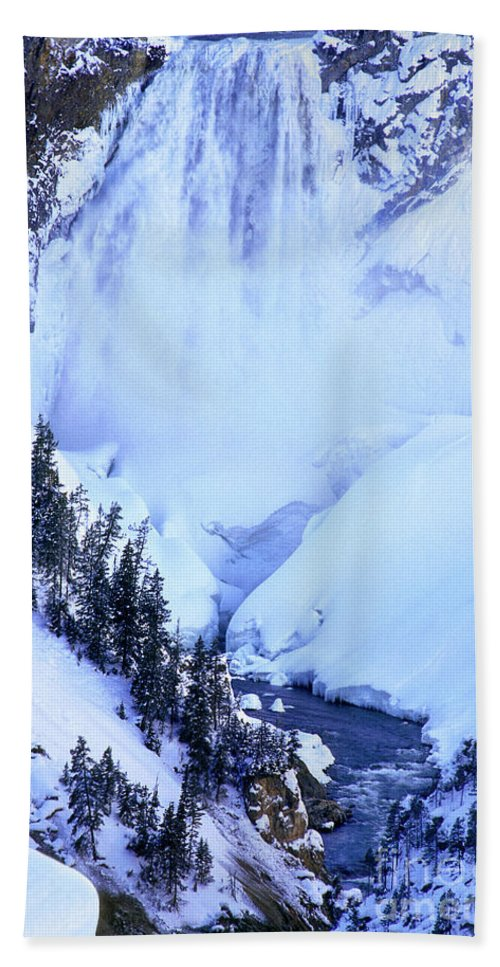North America Bath Sheet featuring the photograph Frozen In Time Yellowstone National Park by Dave Welling
