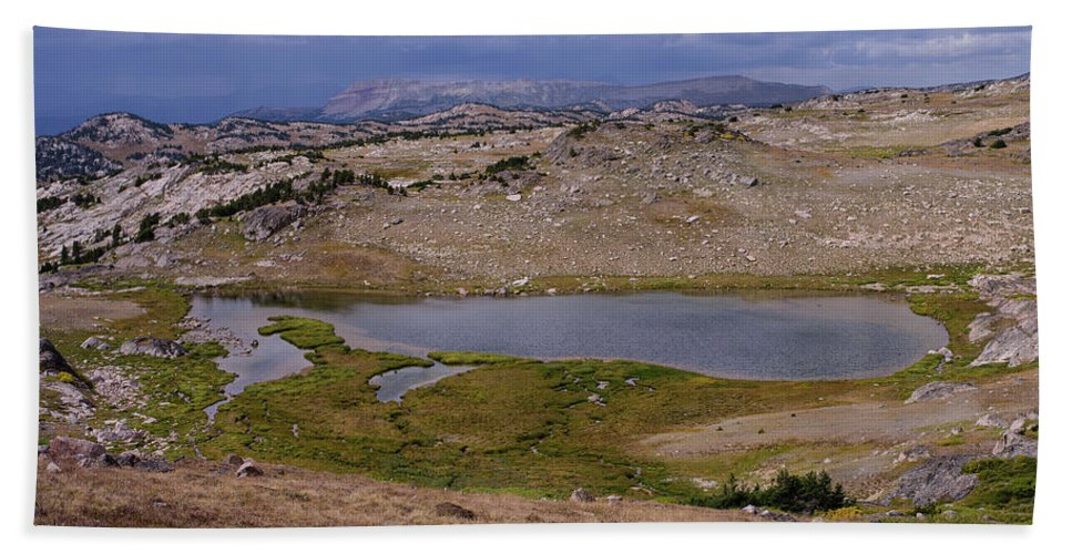 Montana Hand Towel featuring the photograph Frozen Lake 2 by Tracy Knauer