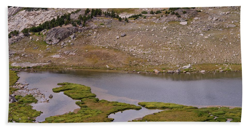 Montana Hand Towel featuring the photograph Frozen Lake by Tracy Knauer