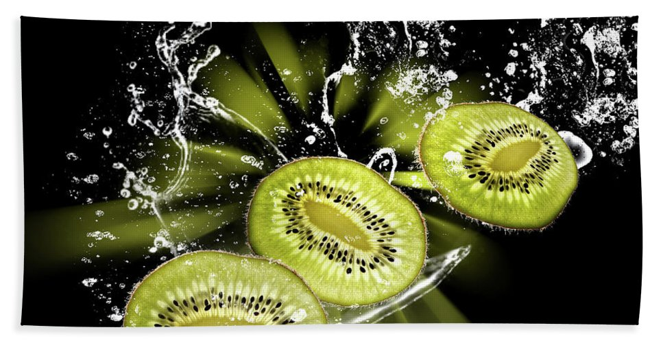 Water Splashes Hand Towel featuring the photograph Fruits by Christine Sponchia