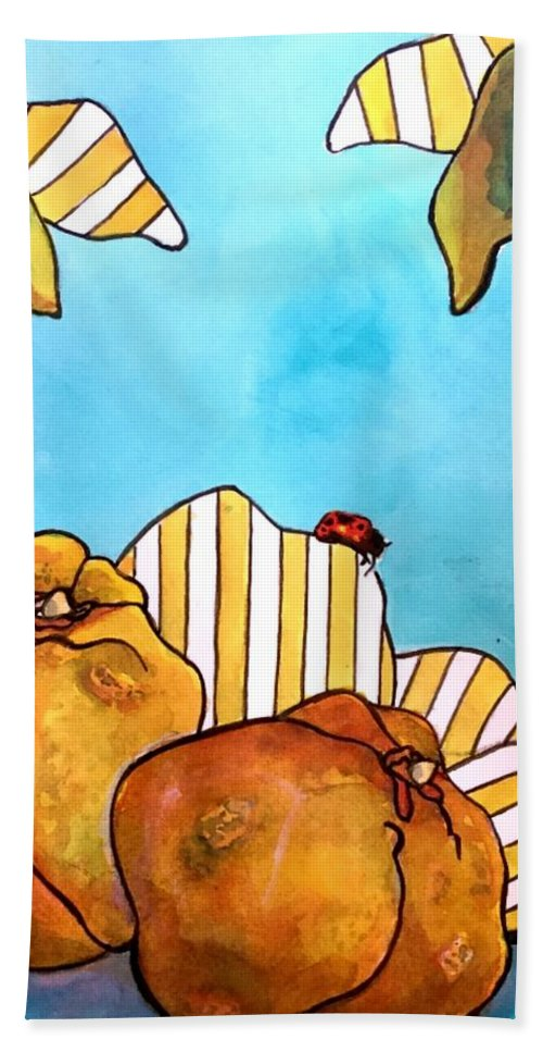 Hand Towel featuring the painting Fruits Of Passion by Michael Rome