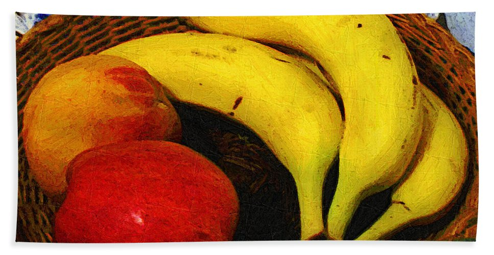 Food Bath Towel featuring the painting Frutta Rustica by RC deWinter