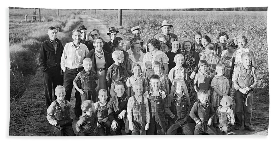 1930s Hand Towel featuring the photograph Fsa Cooperative Farm by Dorothea Lange