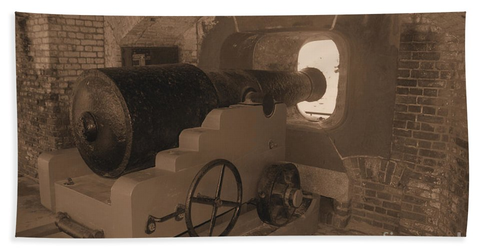 Fort Sumpter Hand Towel featuring the photograph Ft Sumpter Battery by Tommy Anderson