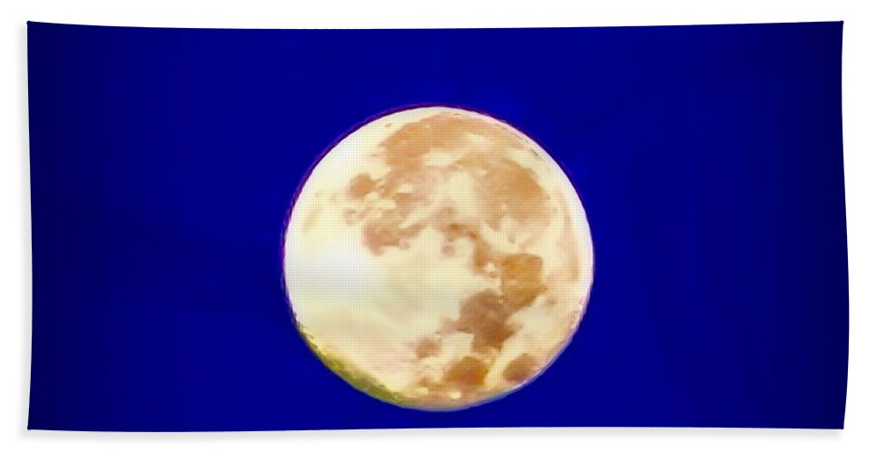 Full Moon Hand Towel featuring the photograph Full Moon Fever by Bill Cannon