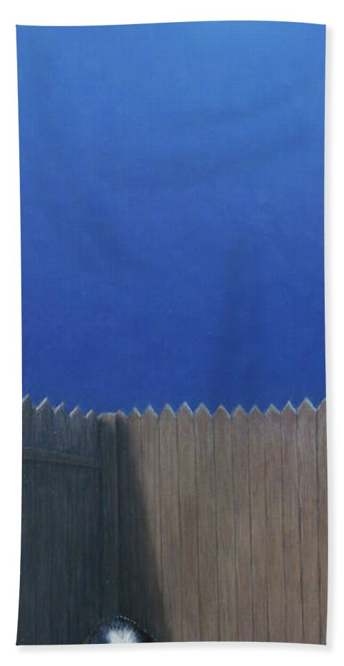 Puppy Bath Towel featuring the painting Full Moon by James W Johnson