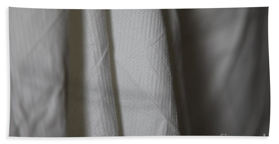 White Bath Sheet featuring the photograph Full Of Empty - Sleep by Amanda Barcon