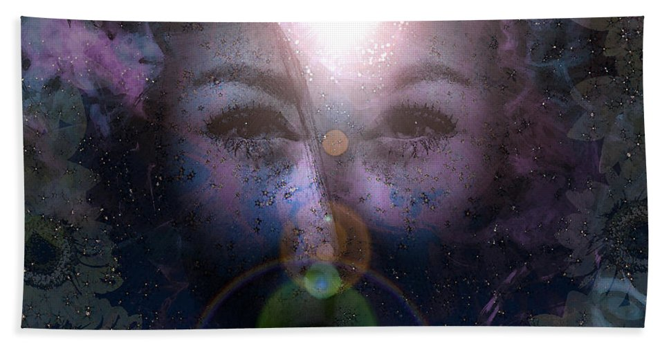 Full Hand Towel featuring the digital art Full Of Stars by Brainwave Pictures
