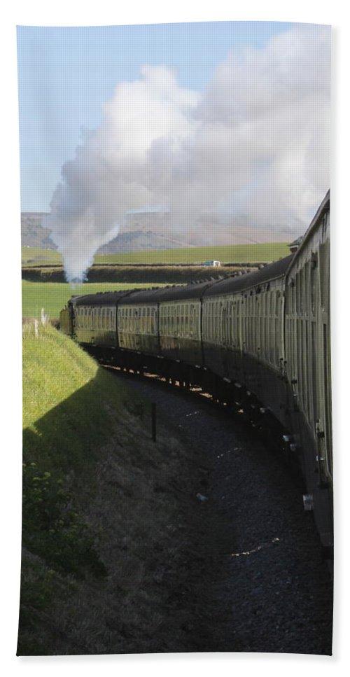 Steam Train Bath Sheet featuring the photograph Full Steam Ahead by Lauri Novak