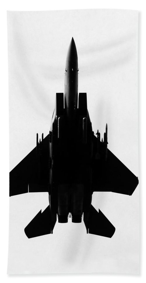 F 15 Eagle Jet Hand Towel featuring the photograph Fully Loaded by David Lee Thompson