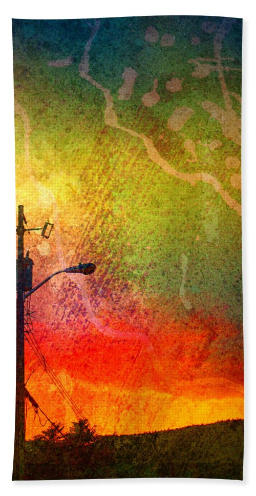 Paint Hand Towel featuring the photograph Funky Sunset by Tara Turner