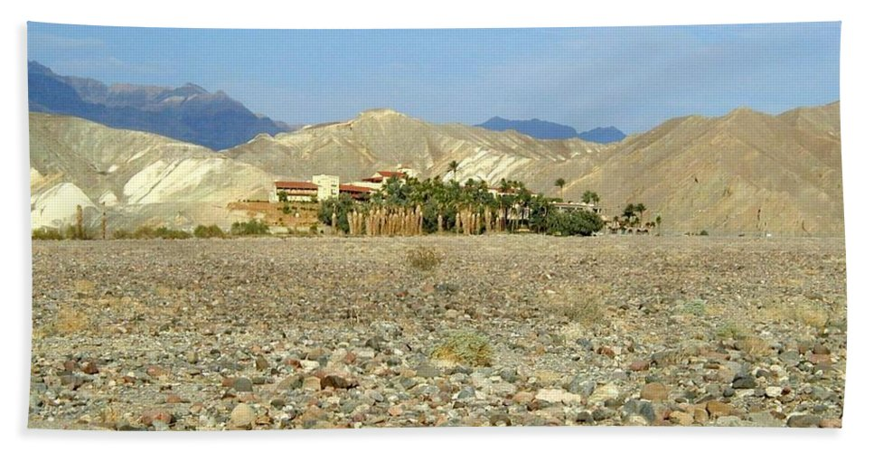 Death Valley Np Hand Towel featuring the photograph Furnace Creek Inn by Rich Bodane