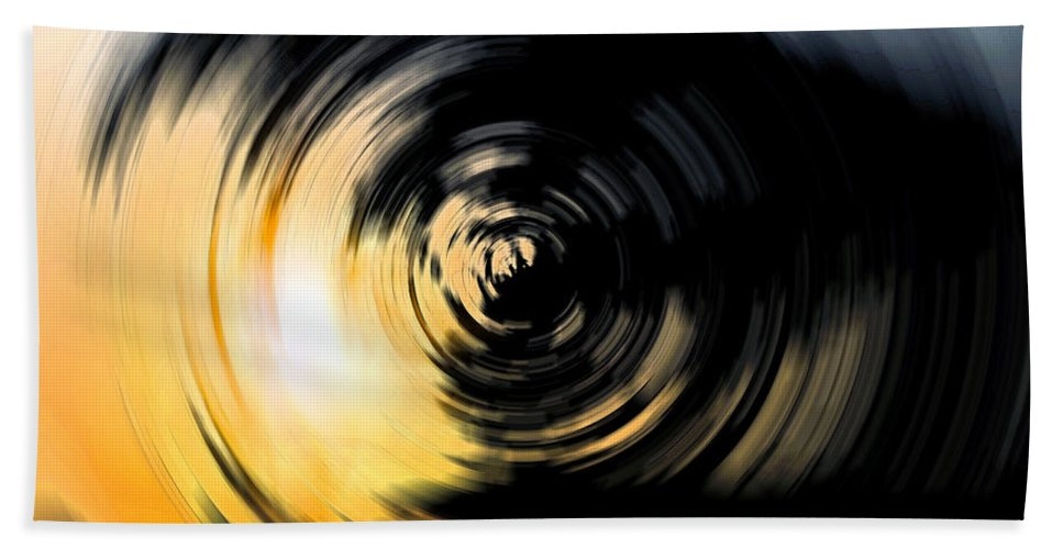 Abstract Bath Sheet featuring the digital art Futility II by Stacey May