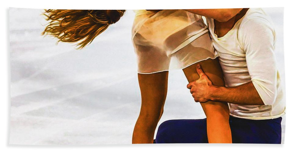 Decoration Bath Sheet featuring the digital art Gabriella Papadakis And Guillaume Cizeron by Don Kuing