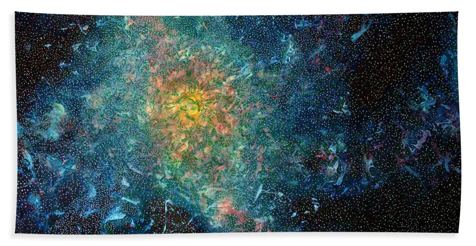 Canvas Print Hand Towel featuring the painting Galaxy by Frank Hiley