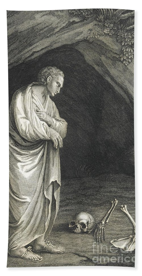 Art Bath Sheet featuring the photograph Galen, Greek Physician And Philosopher by Wellcome Images
