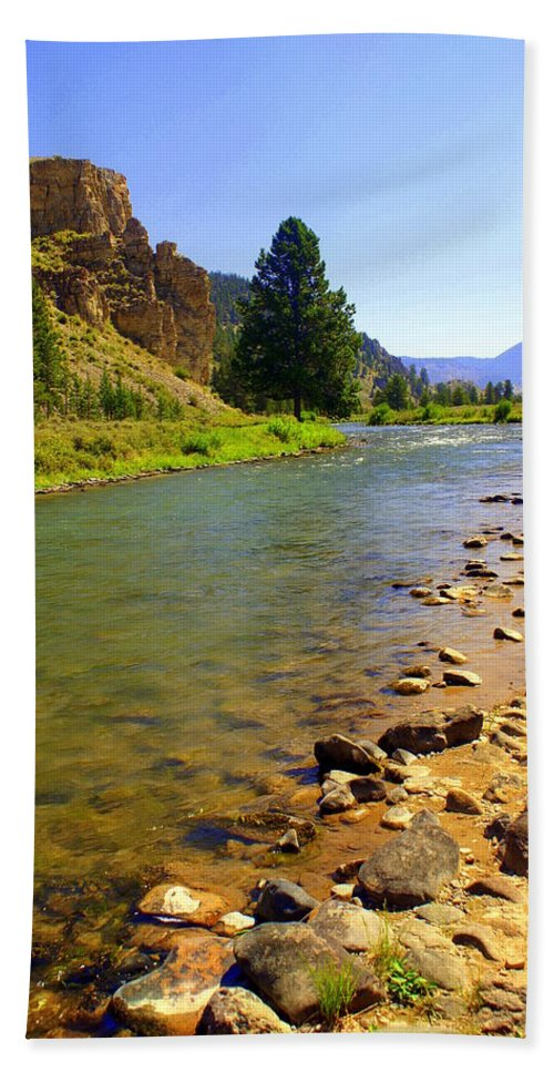 Gallitan River Bath Towel featuring the photograph Gallitan River 1 by Marty Koch