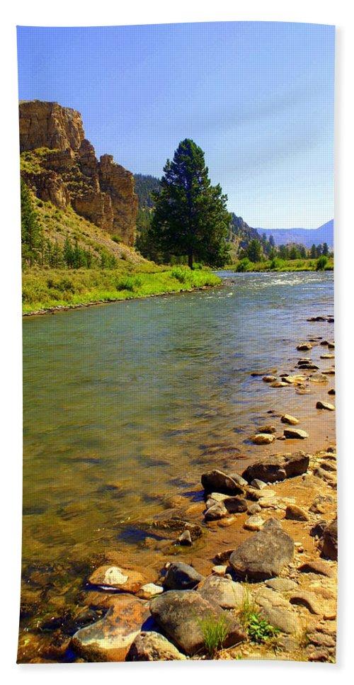Gallitan River Bath Sheet featuring the photograph Gallitan River 1 by Marty Koch
