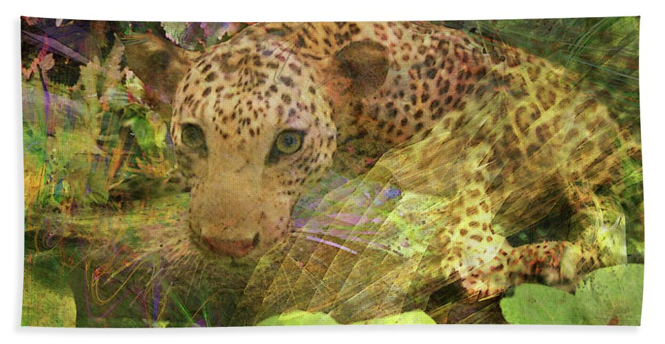 Game Spotting Hand Towel featuring the digital art Game Spotting by John Beck