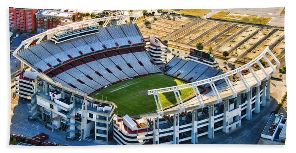 William Brice Stadium Bath Sheet featuring the photograph Gamecock Corral by Steven Richardson