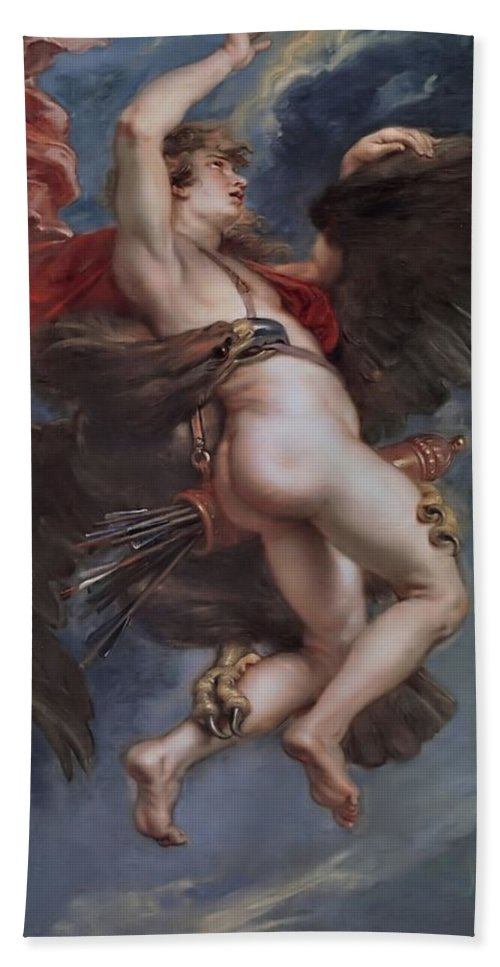 Prado Hand Towel featuring the painting Ganymede  by Peter Paul Rubens