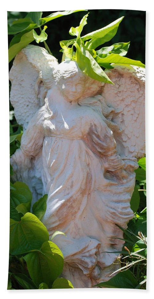 Angels Bath Sheet featuring the photograph Garden Angel by Rob Hans