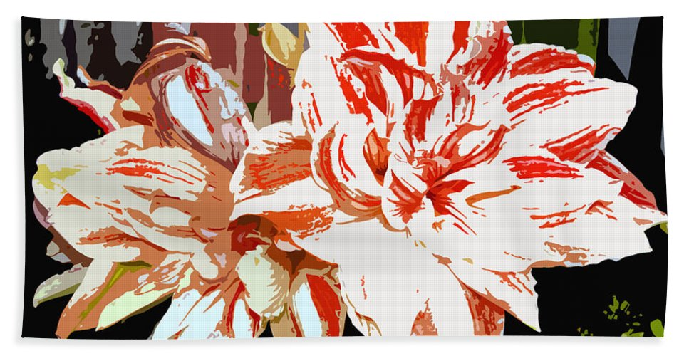 Flowers.tropical Bath Towel featuring the photograph Garden Beauty Work Number 30 by David Lee Thompson