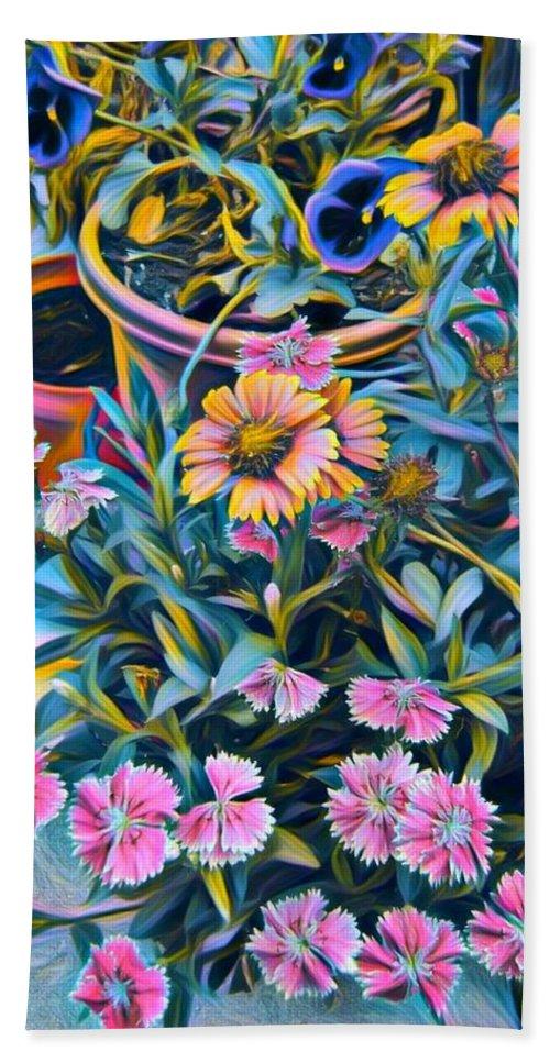 Flowers Bath Sheet featuring the photograph Garden Flowers by Richard Ingoglia