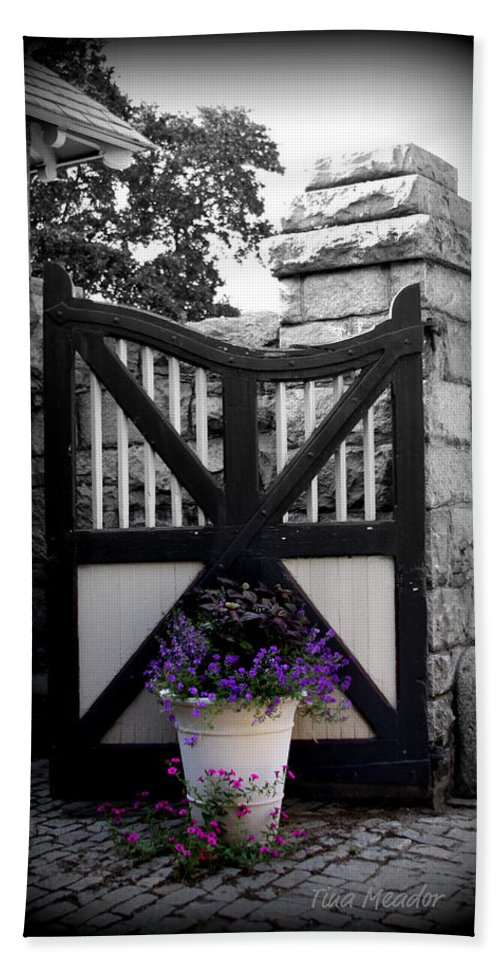 Gate Hand Towel featuring the photograph Garden Gate by Tina Meador