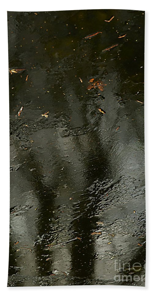 Winter Landscape Bath Sheet featuring the photograph Garden In Winter. by Alexander Vinogradov