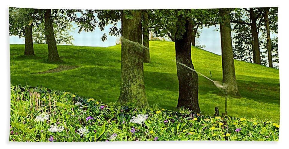 Garden Hand Towel featuring the photograph Garden by Madeline Ellis