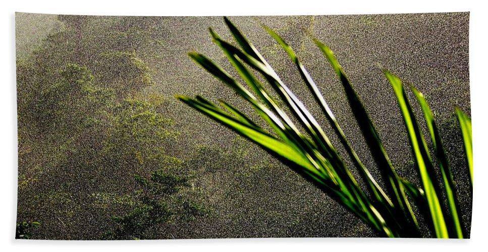 Rain Hand Towel featuring the photograph Garden Of Eden Rain by Karen Wiles