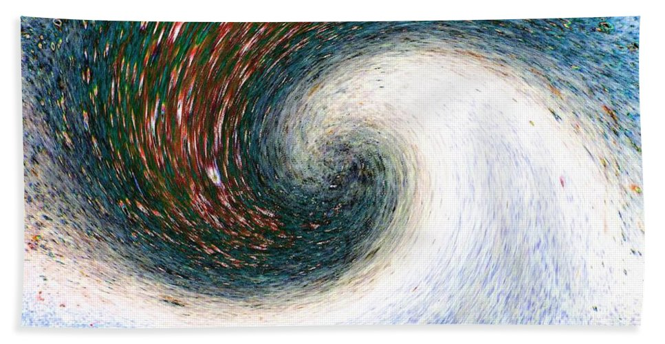 Abstract Hand Towel featuring the digital art Gastronomic Tornado by Will Borden