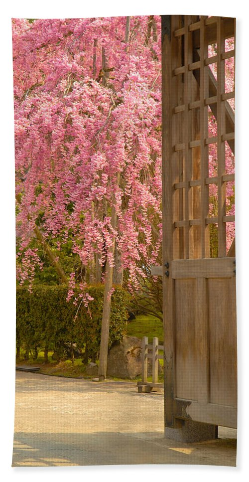 Japan Bath Towel featuring the photograph Gate by Sebastian Musial
