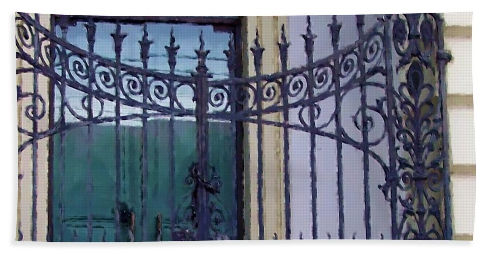 Gate Hand Towel featuring the photograph Gated by Debbi Granruth